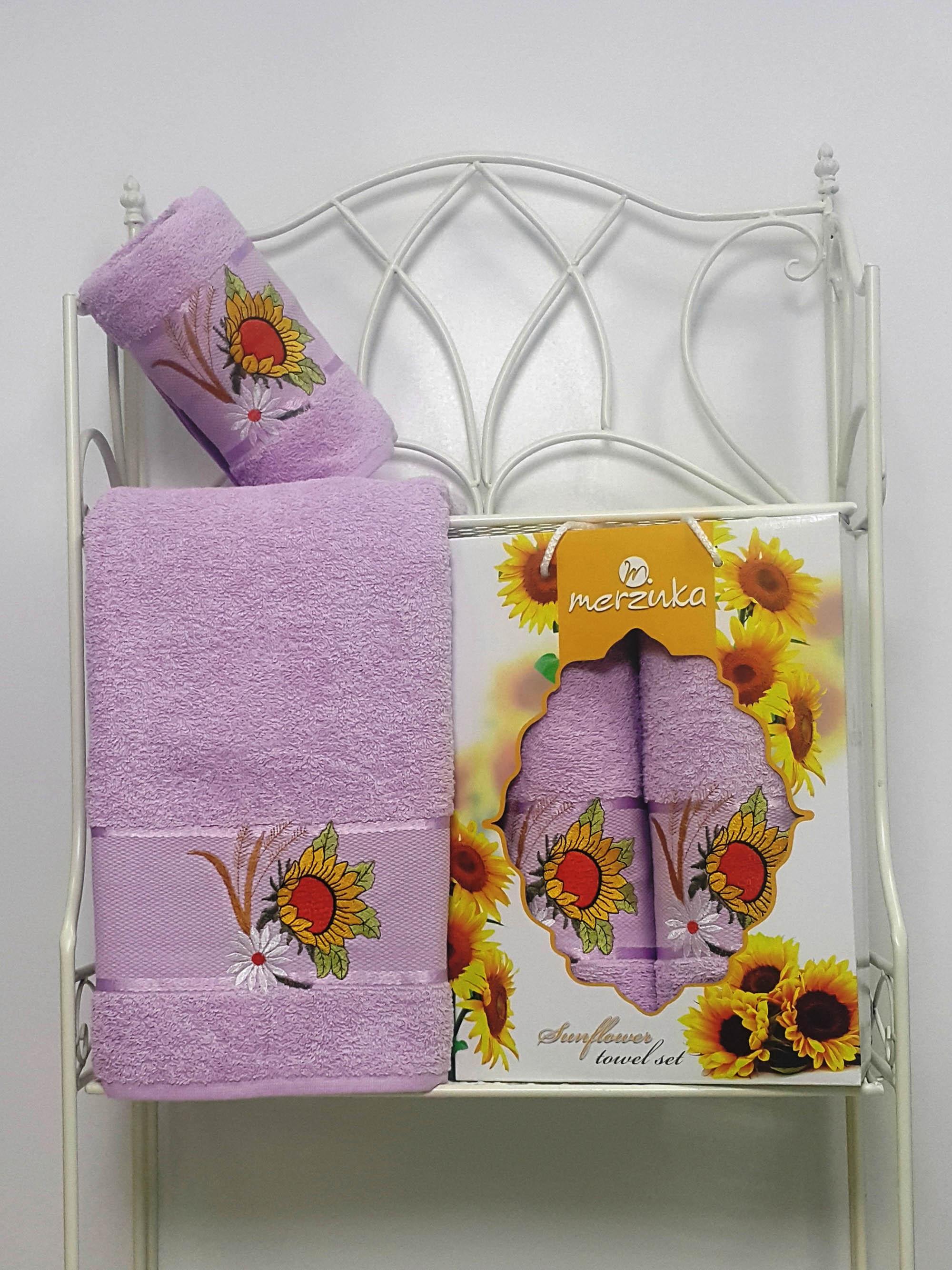 Полотенца Oran Merzuka Набор из 2 полотенец Sunflower Цвет: Сиреневый набор из 3 полотенец merzuka sakura 50х90 2 70х140 8432 оранжевый