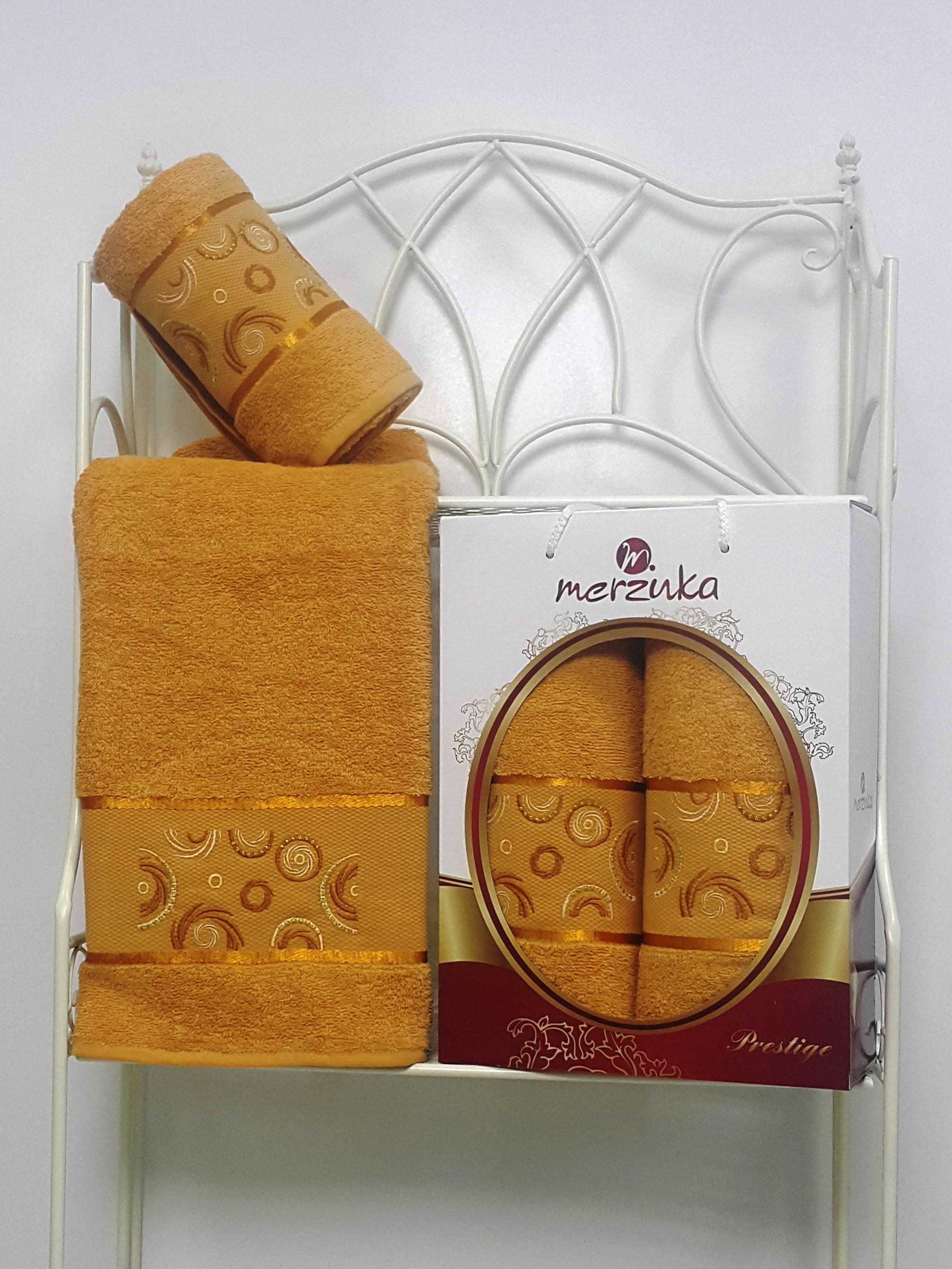 Полотенца Oran Merzuka Набор из 2 полотенец Prestij Цвет: Горчичный набор из 3 полотенец merzuka sakura 50х90 2 70х140 8432 оранжевый