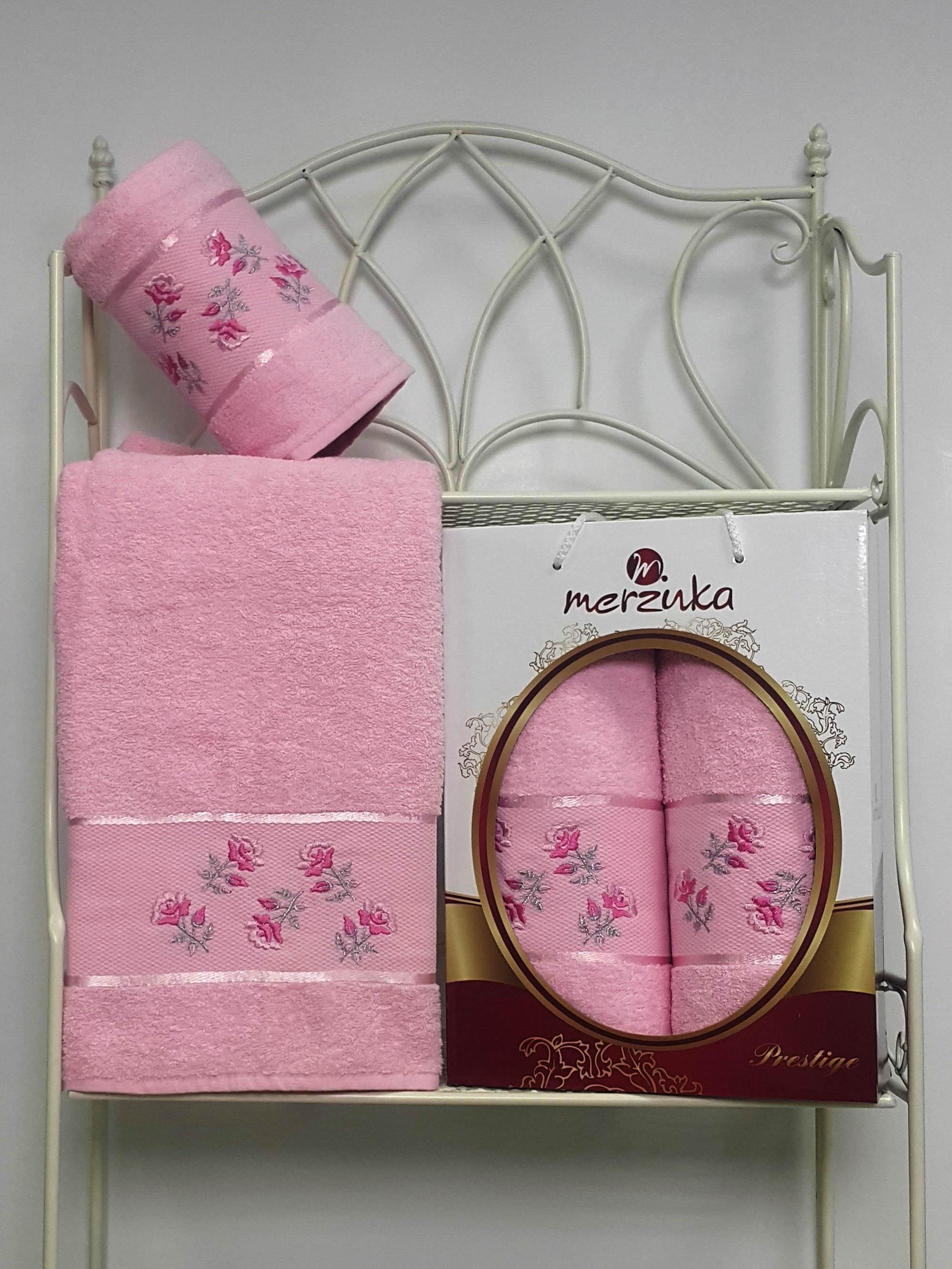 Полотенца Oran Merzuka Набор из 2 полотенец Prestij Цвет: Светло-Розовый набор из 2 полотенец merzuka sakura 50х90 70х140 8430 кремовый