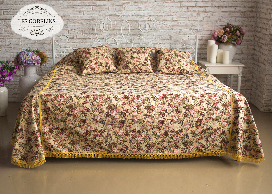 где купить  Покрывало Les Gobelins Покрывало на кровать Bouquet Francais (180х220 см)  по лучшей цене