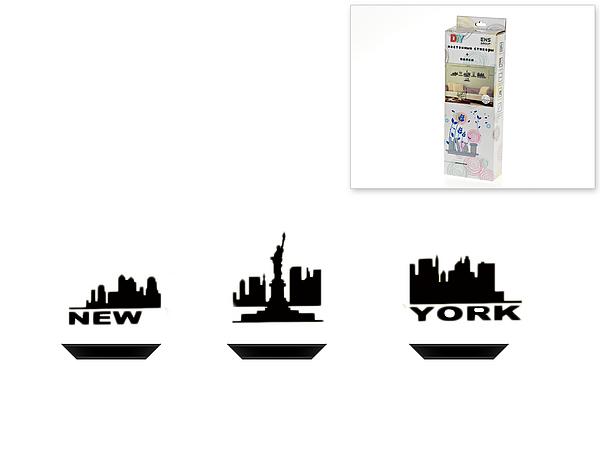 {} ENS GROUP Полки с интерьерной наклейкой New York (Набор) салатник с крышкой ens group танго магнолия 1 6 л
