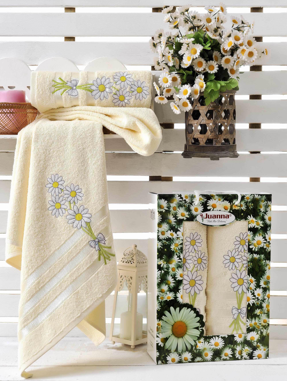 Полотенца Juanna Набор из 2 полотенец Papatya Цвет: Кремовый набор из 3 полотенец merzuka sakura 50х90 2 70х140 8432 терракотовый