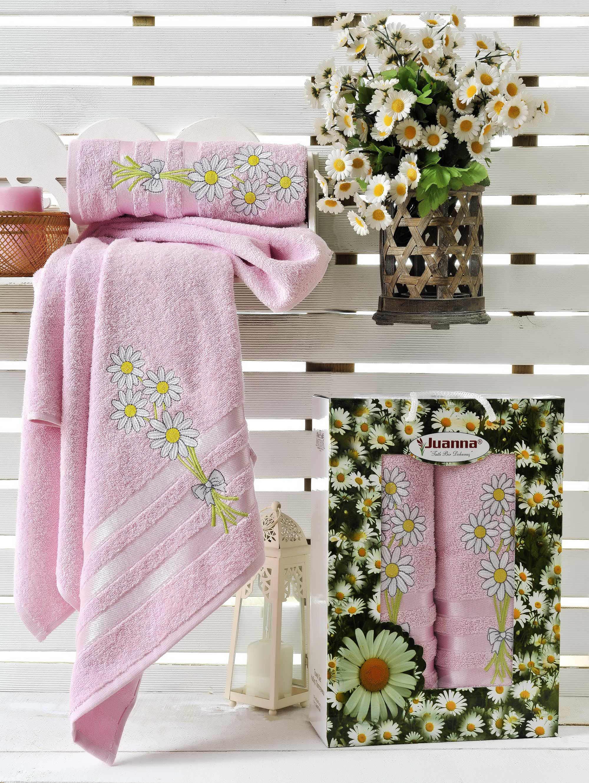 Полотенца Juanna Набор из 2 полотенец Papatya Цвет: Розовый набор из 3 полотенец merzuka sakura 50х90 2 70х140 8432 оранжевый