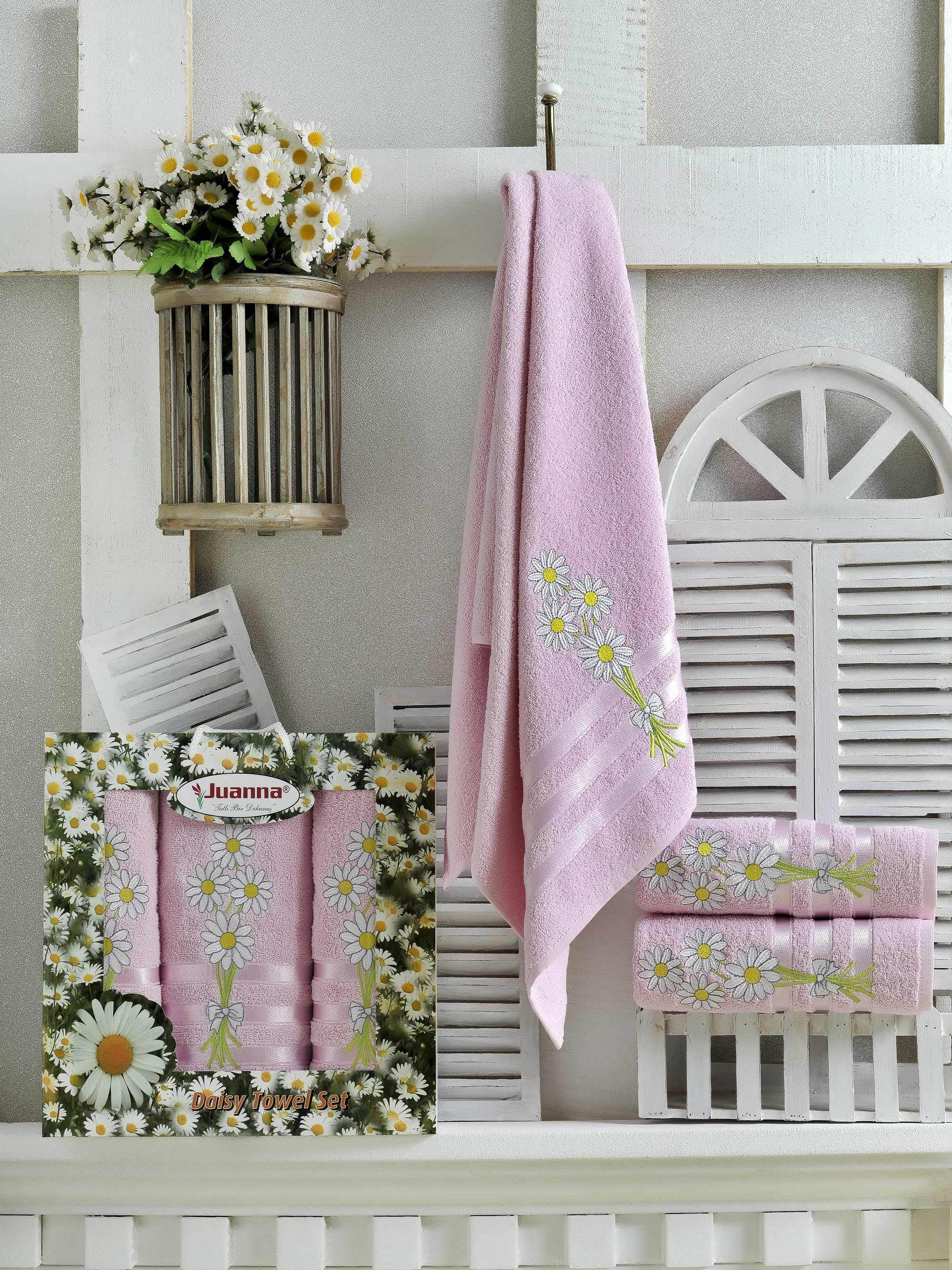 Полотенца Juanna Набор из 3 полотенец Papatya Цвет: Розовый набор из 3 полотенец merzuka sakura 50х90 2 70х140 8432 терракотовый