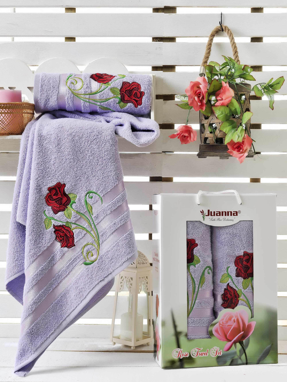 где купить  Полотенца Juanna Набор из 2 полотенец Gul Цвет: Лиловый  по лучшей цене