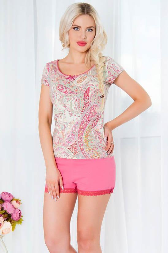 Пижамы Mia Cara Пижама Paisley Цвет: Розовый (M-L) пижама mia mia crystal бирюзовый l