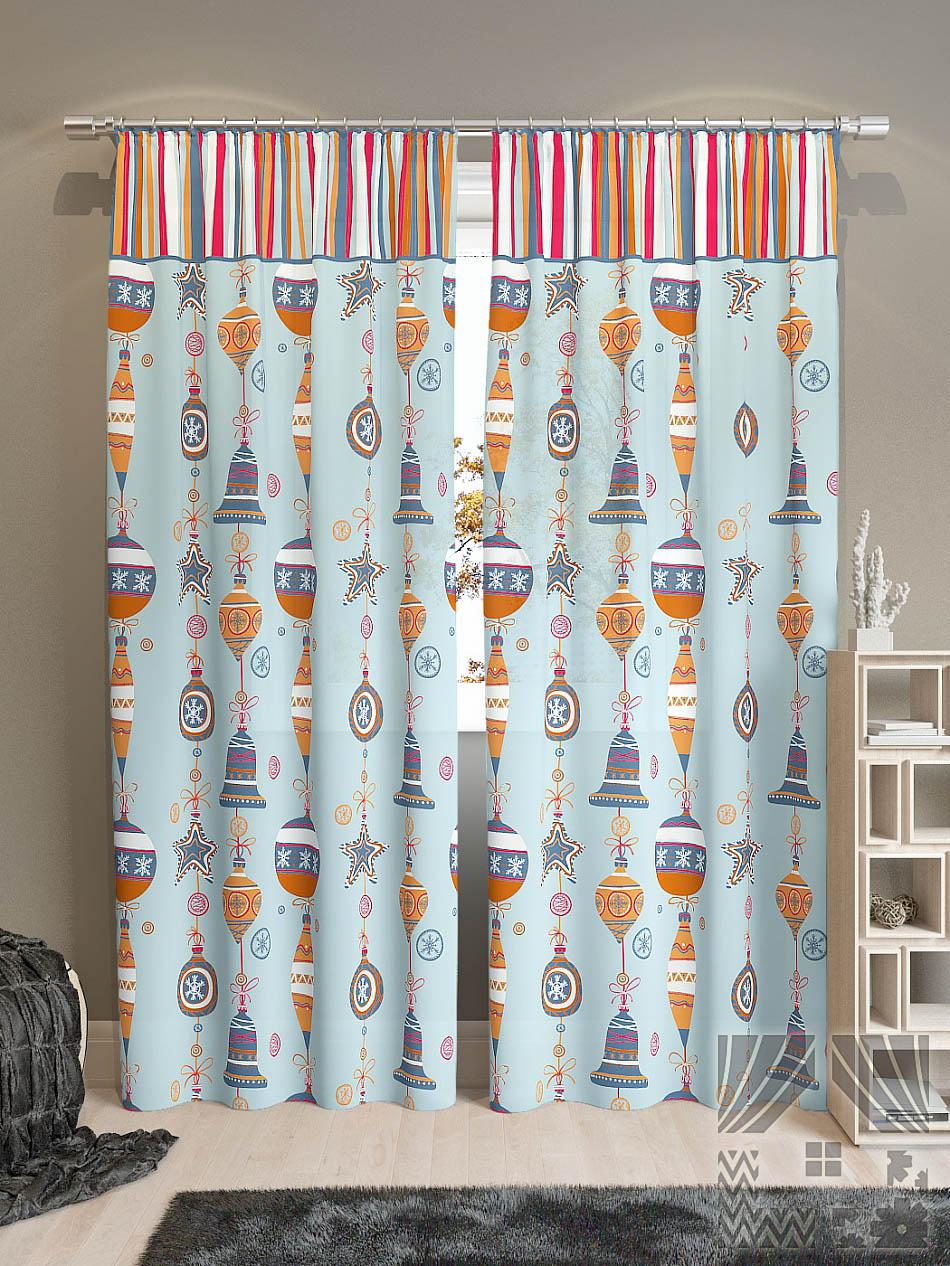 Шторы ТомДом Классические шторы Лакона-К Цвет: Голубой томдом томдом классические шторы абель цвет малиновый