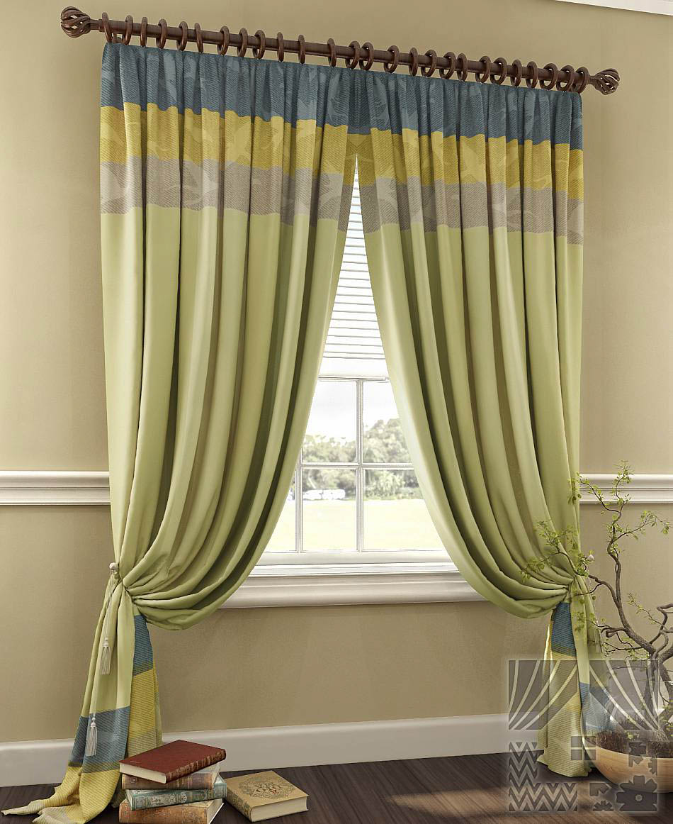 Шторы ТомДом Классические шторы Касба Цвет: Зеленый