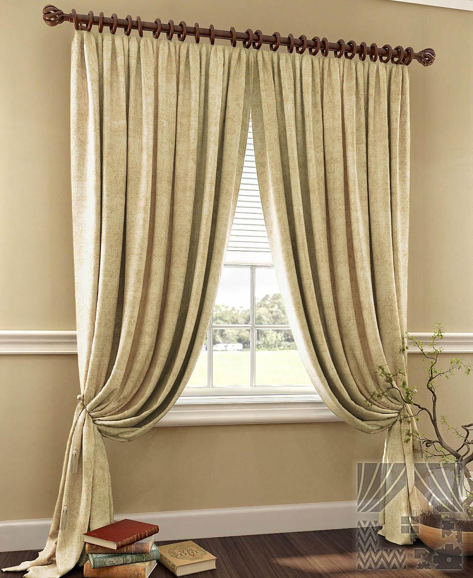 Шторы ТомДом Классические шторы Пирун Цвет: Бежевый шторы томдом классические шторы мелета к цвет бежевый