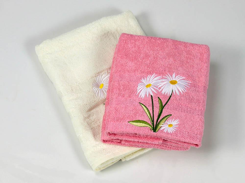 где купить  Полотенца Cottonist Полотенце Ромашка Цвет: Кремовый,Розовый (Набор)  по лучшей цене