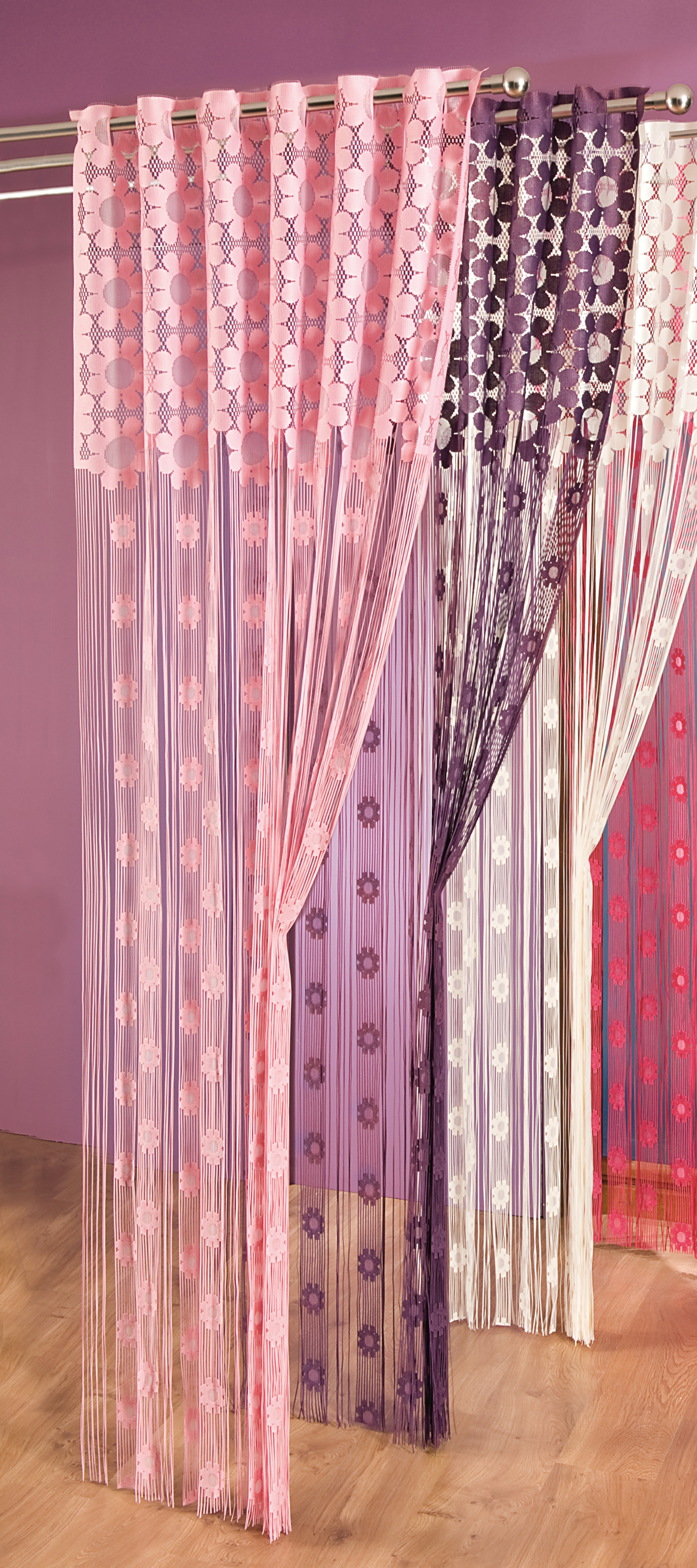 Шторы Wisan Нитяные шторы Lolicia Цвет: Розовый wisan wisan нитяные шторы joelle цвет кремовый бежевый
