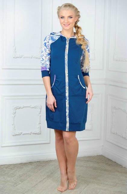 где купить  Домашние халаты Mia Cara Домашний халат Mia Cara Magic Цвет: Синий (xxL)  по лучшей цене