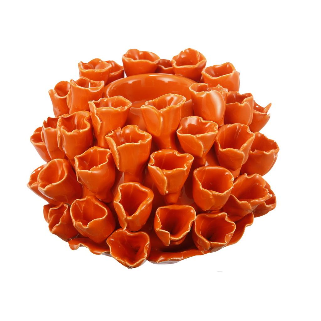{} ARTEVALUCE Подсвечник Коралл Цвет: Оранжевый (10х15х15 см)