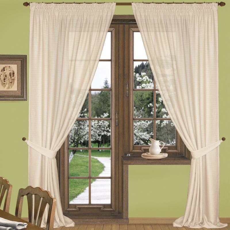 Шторы Elegante Классические шторы Эко-Стиль Цвет: Кремовый