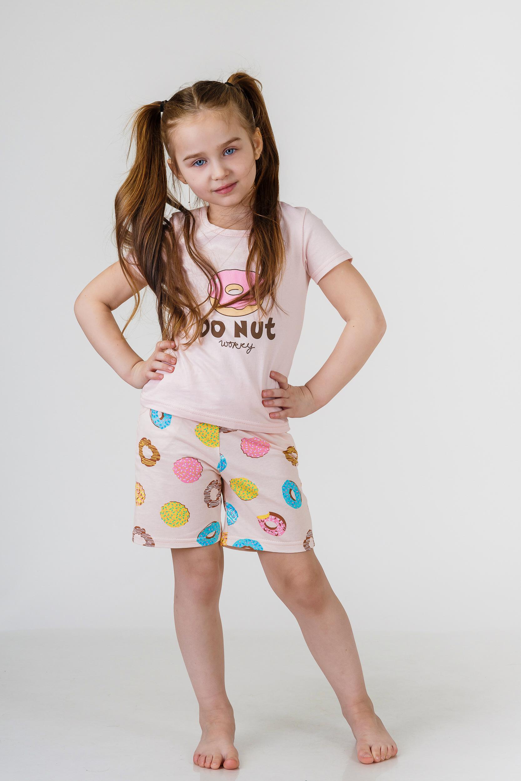 Детские пижамы Pastilla Детская пижама Лакомка Цвет: Пудровый (7-8 лет) детские пижамы pastilla детская пижама радуга цвет розовый 6 лет