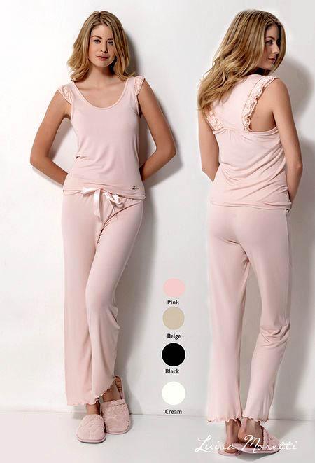 цена Пижамы Luisa Moretti Пижама Jeni Цвет: Розовый (S) онлайн в 2017 году