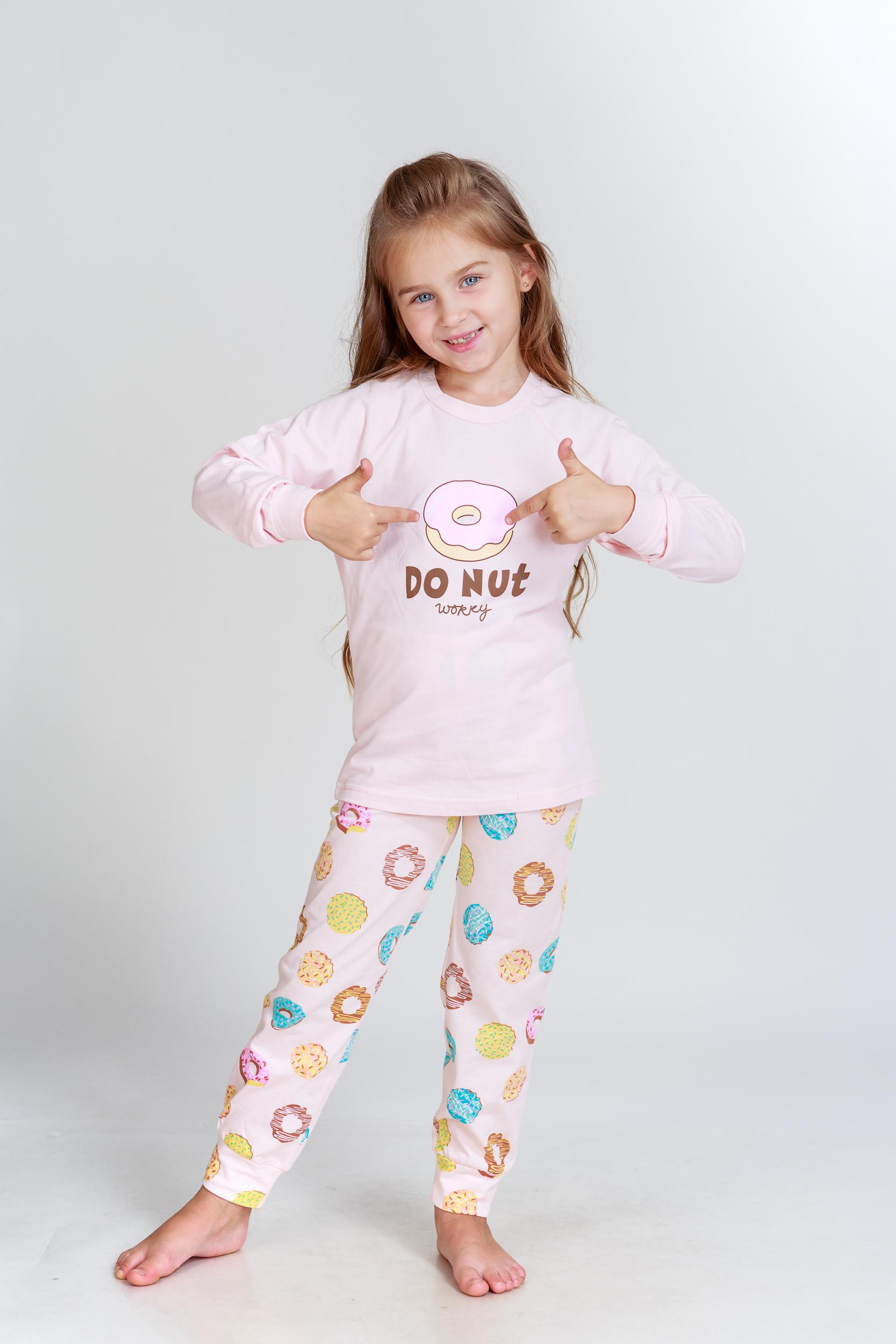 Детские пижамы Pastilla Детская пижама Лакомка Цвет: Пудровый (6-7 лет) детские пижамы pastilla детская пижама радуга цвет розовый 6 лет
