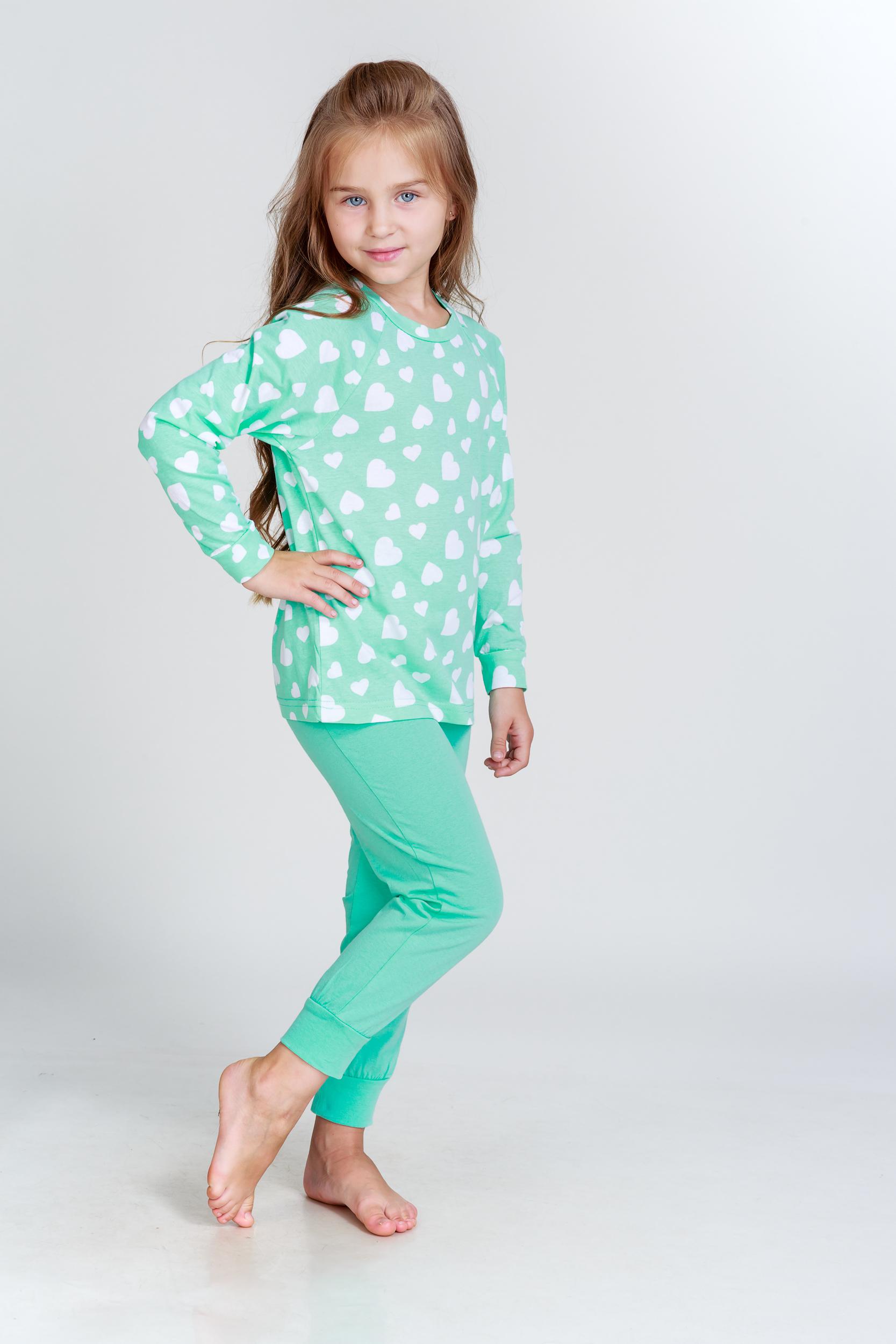 Детские пижамы Pastilla Детская пижама Стелла Цвет: Ментоловый (7-8 лет) детские пижамы pastilla детская пижама радуга цвет розовый 6 лет