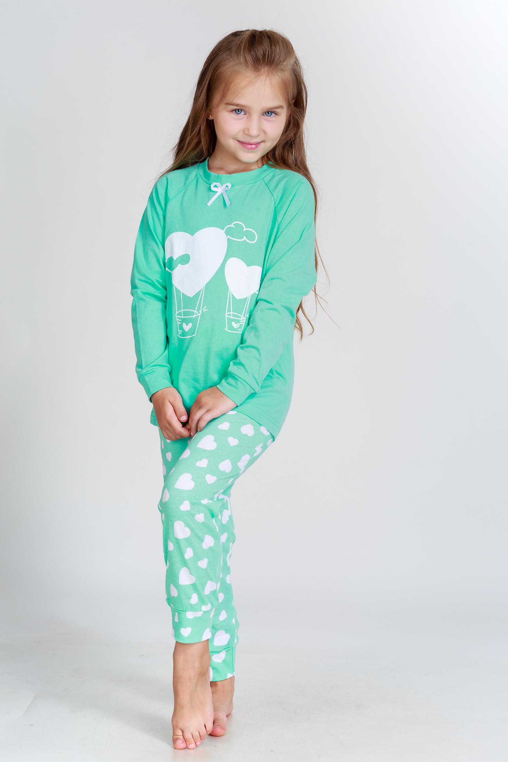 Детские пижамы Pastilla Детская пижама Стелла Цвет: Ментоловый (6 лет) детские пижамы pastilla детская пижама радуга цвет розовый 6 лет