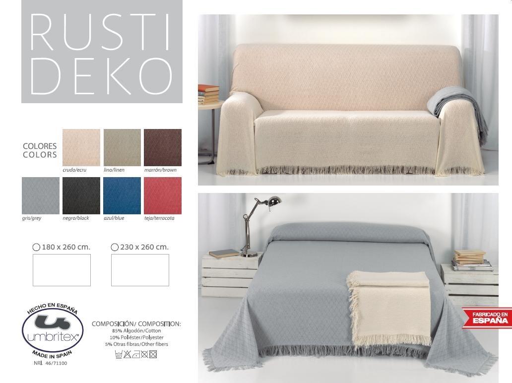 где купить Покрывало Umbritex Покрывало Rustica1 Цвет: Голубой (180х260 см) по лучшей цене