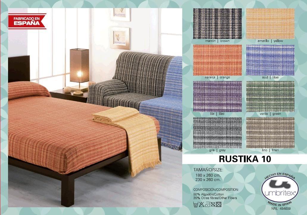 где купить Покрывало Umbritex Покрывало Rustica10 Цвет: Серый (180х260 см) по лучшей цене