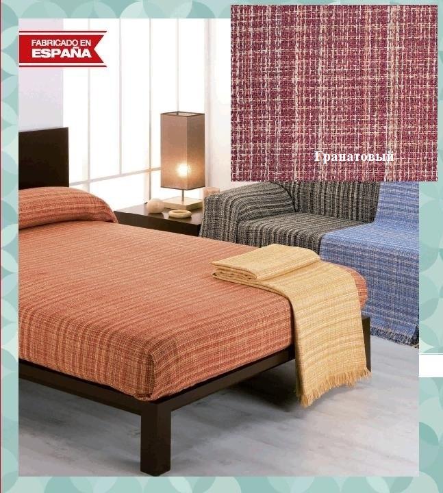 где купить Покрывало Umbritex Покрывало Rustica10 Цвет: Гранатовый (180х260 см) по лучшей цене
