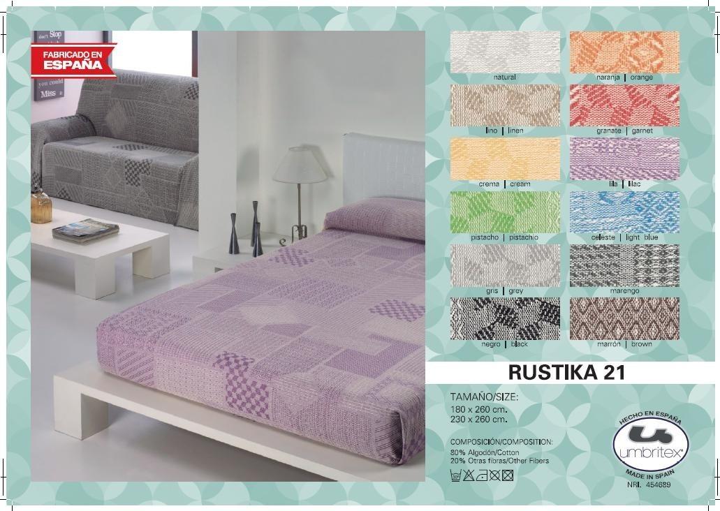 где купить Покрывало Umbritex Покрывало Rustika21 Цвет: Коричневый (180х260 см) по лучшей цене