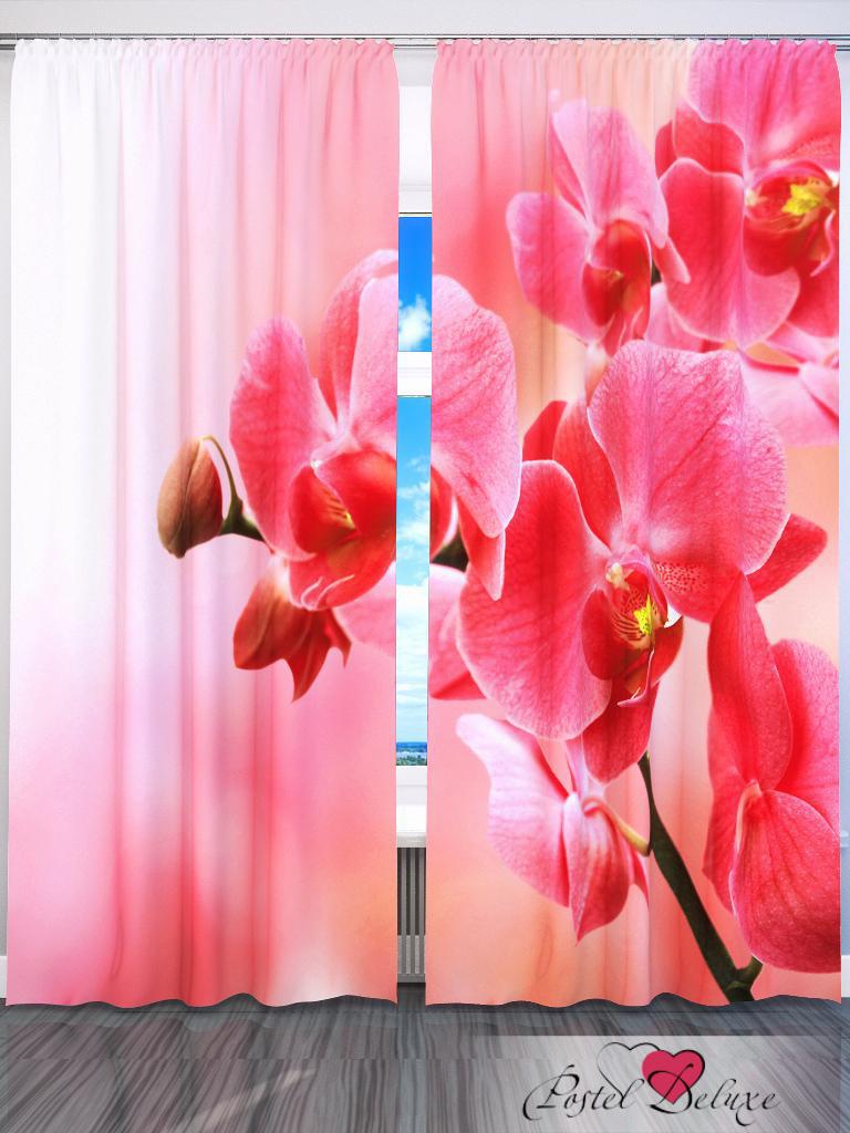 Шторы Fototende Фотошторы Розовые Цветы