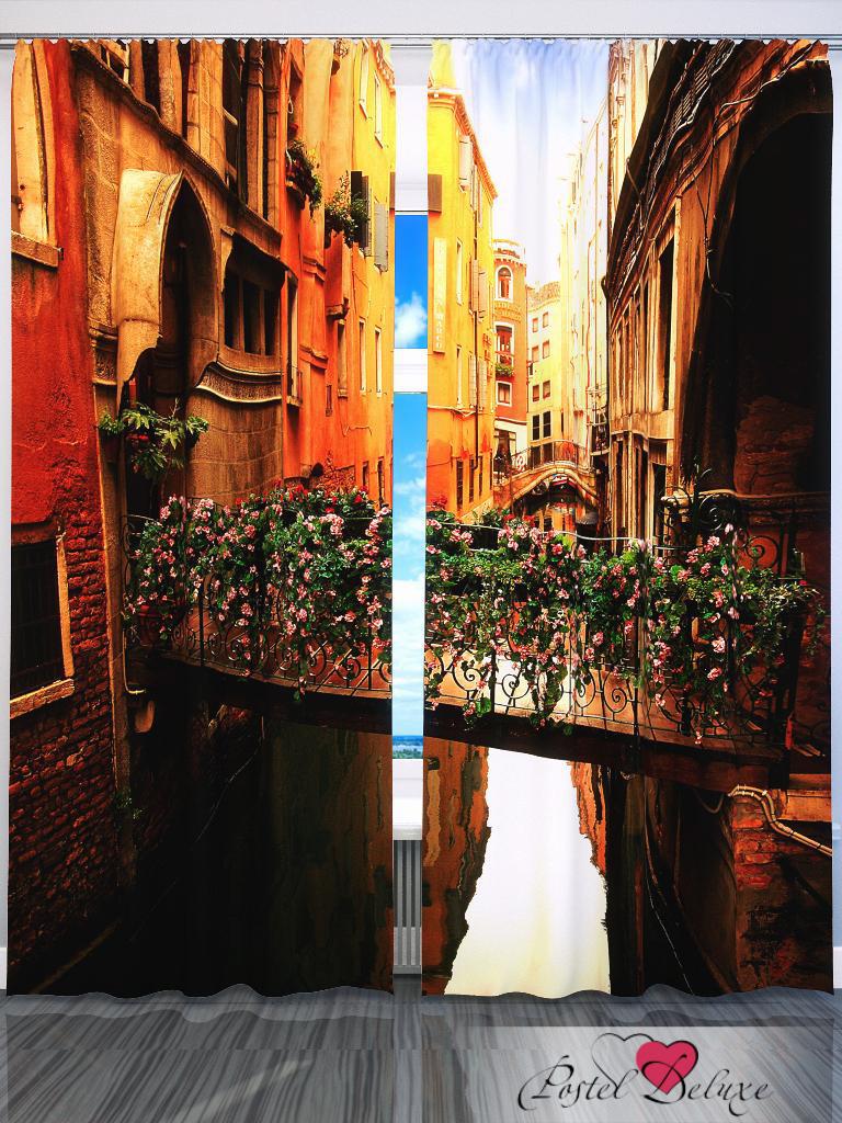 Шторы Fototende Фотошторы Цветочный Мост