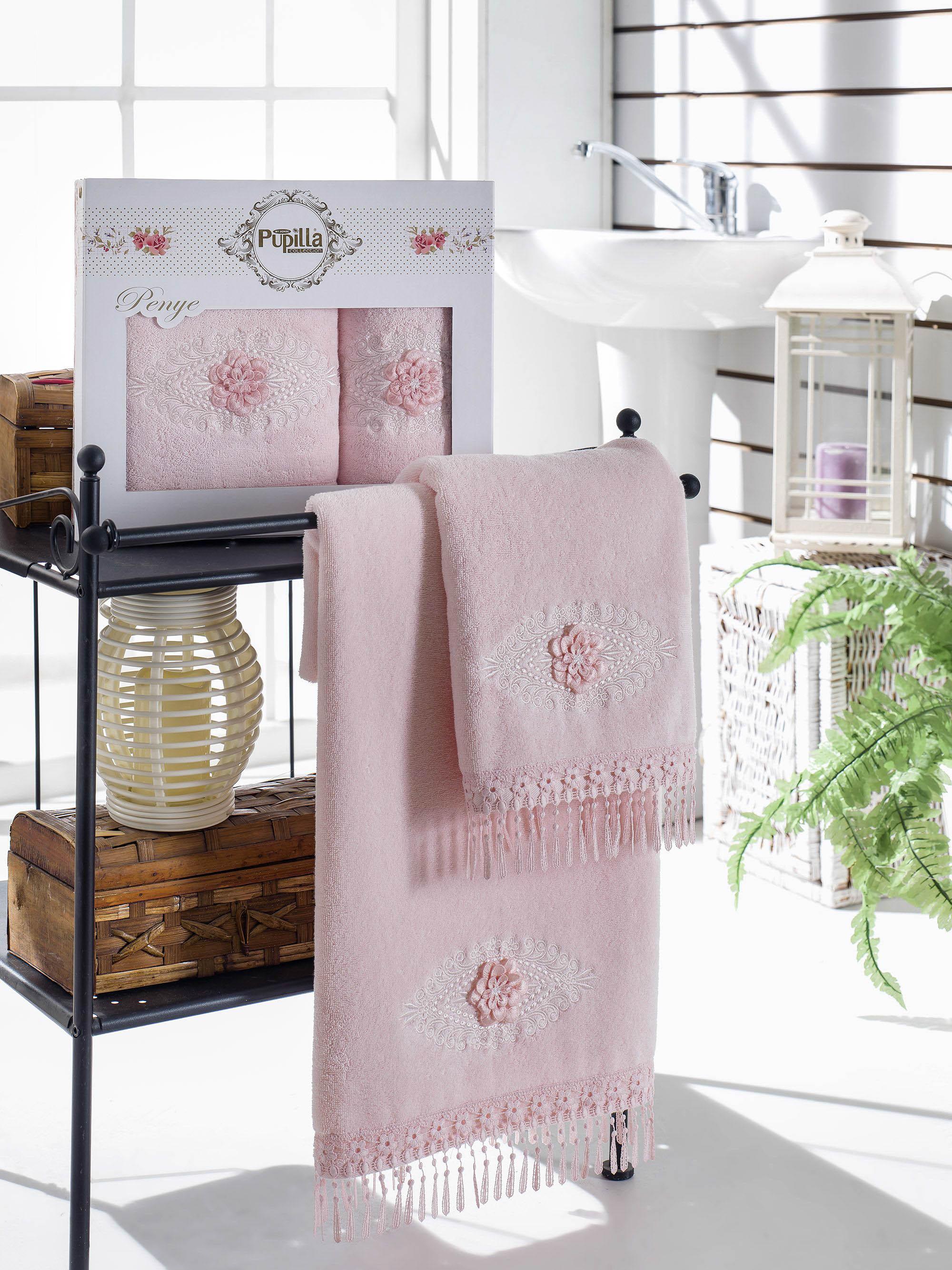 Полотенца Pupilla Набор из 2 полотенец Stil Цвет: Розовый набор из 3 полотенец merzuka sakura 50х90 2 70х140 8432 терракотовый