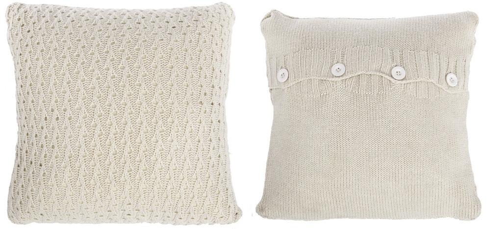 Декоративные подушки ARTEVALUCE Декоративная подушка Evita Цвет: Бежевый (46х46 (2 шт))