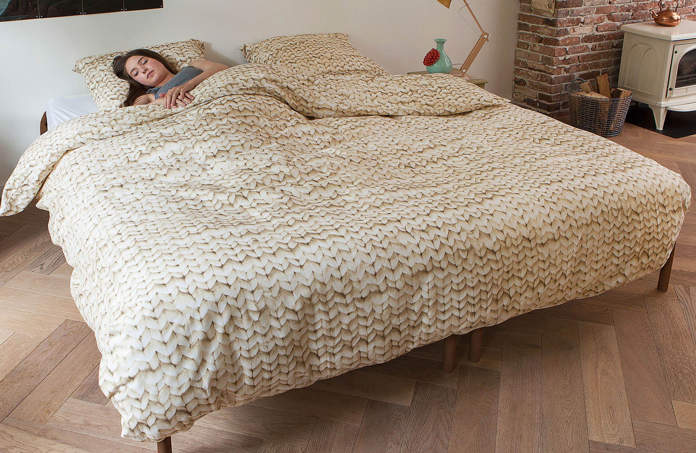 Snurk Пододеяльник Косичка Цвет: Бежевый (150х200 см)