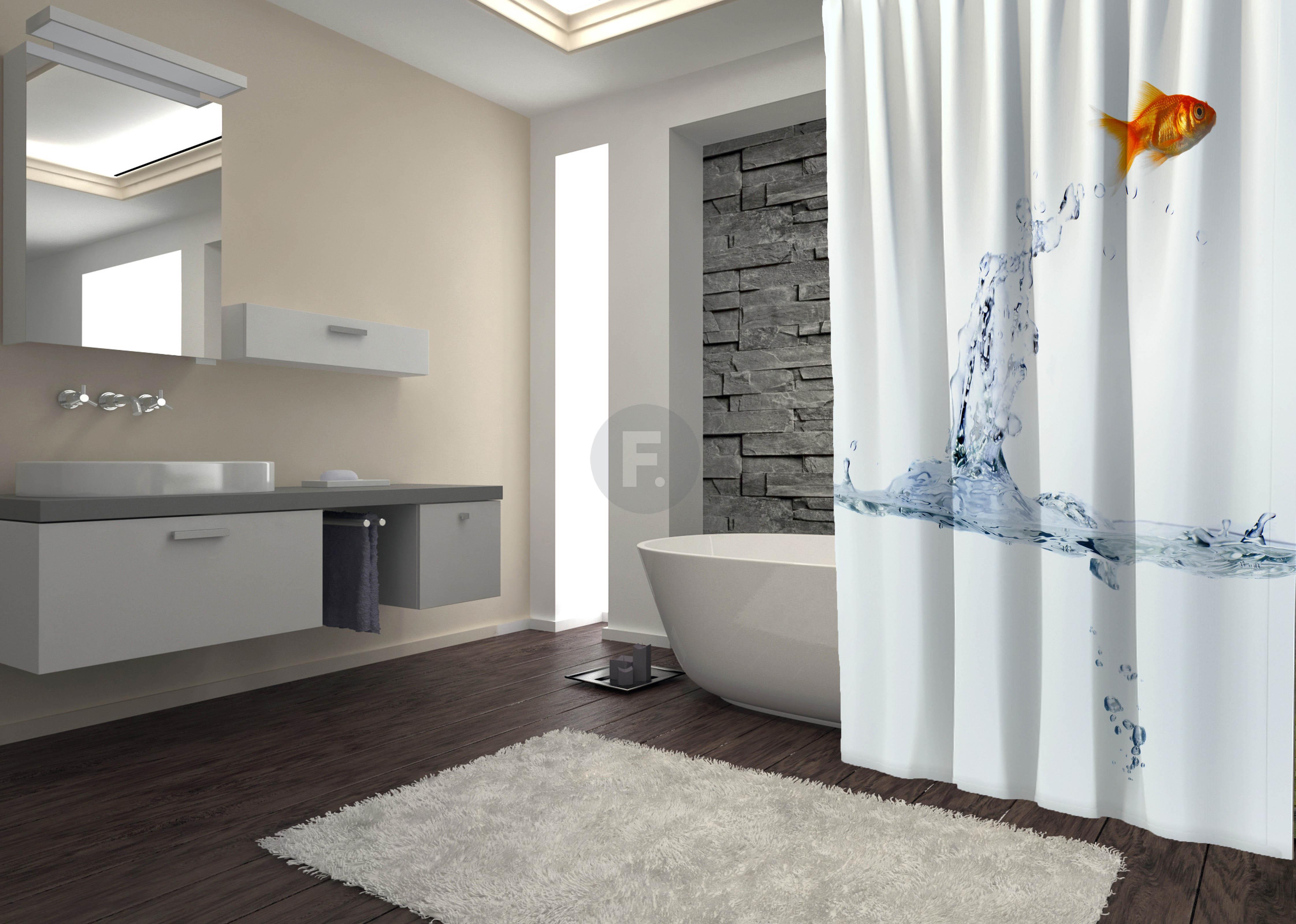 Шторы и карнизы для ванной Fototende Шторы для ванной Cadence  (145х180)