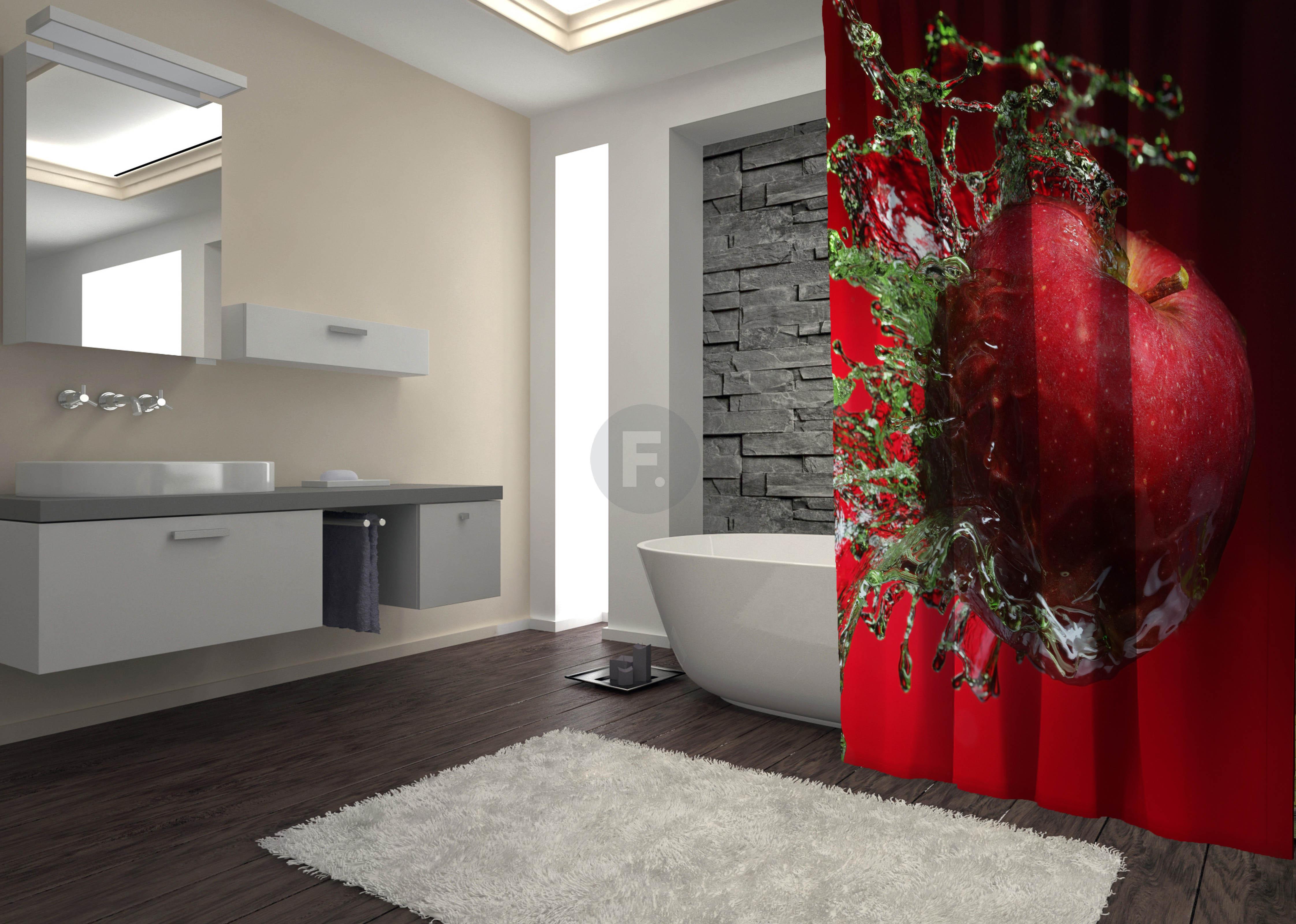 Шторы и карнизы для ванной Fototende Шторы для ванной Jeshaiah  (145х180)