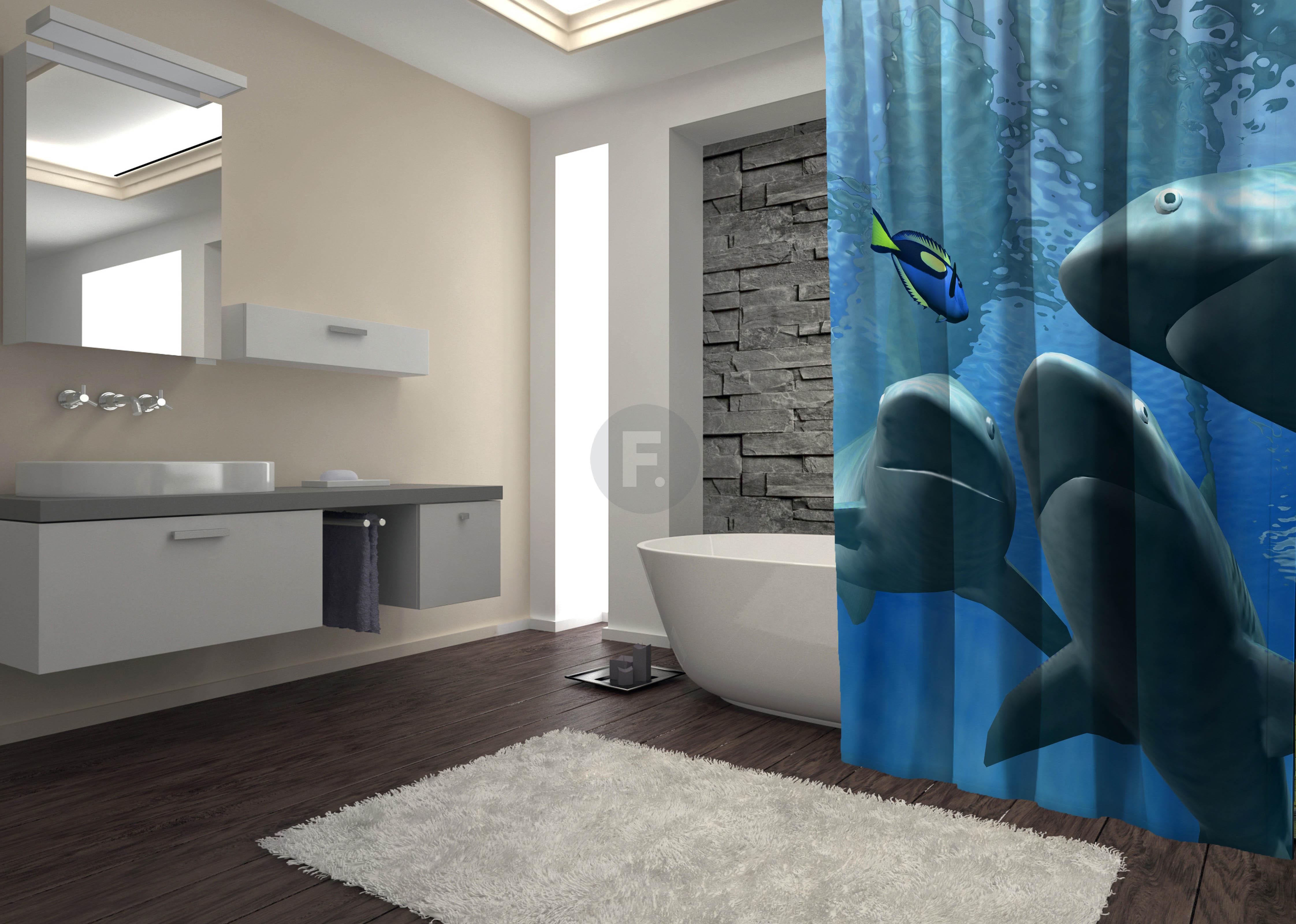 Шторы и карнизы для ванной Fototende Шторы для ванной Trish  (145х180)