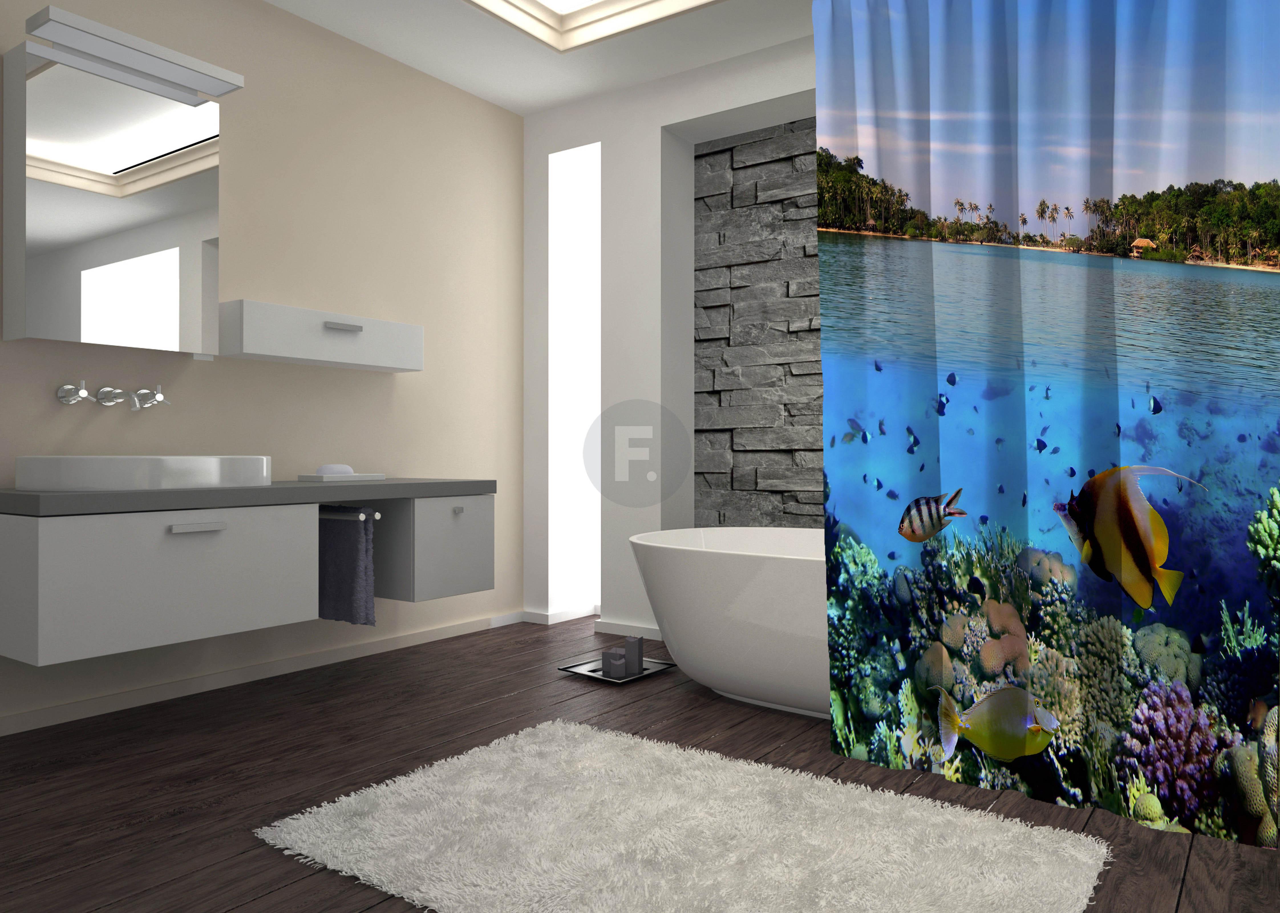 Шторы и карнизы для ванной Fototende Шторы для ванной Desmond  (145х180)