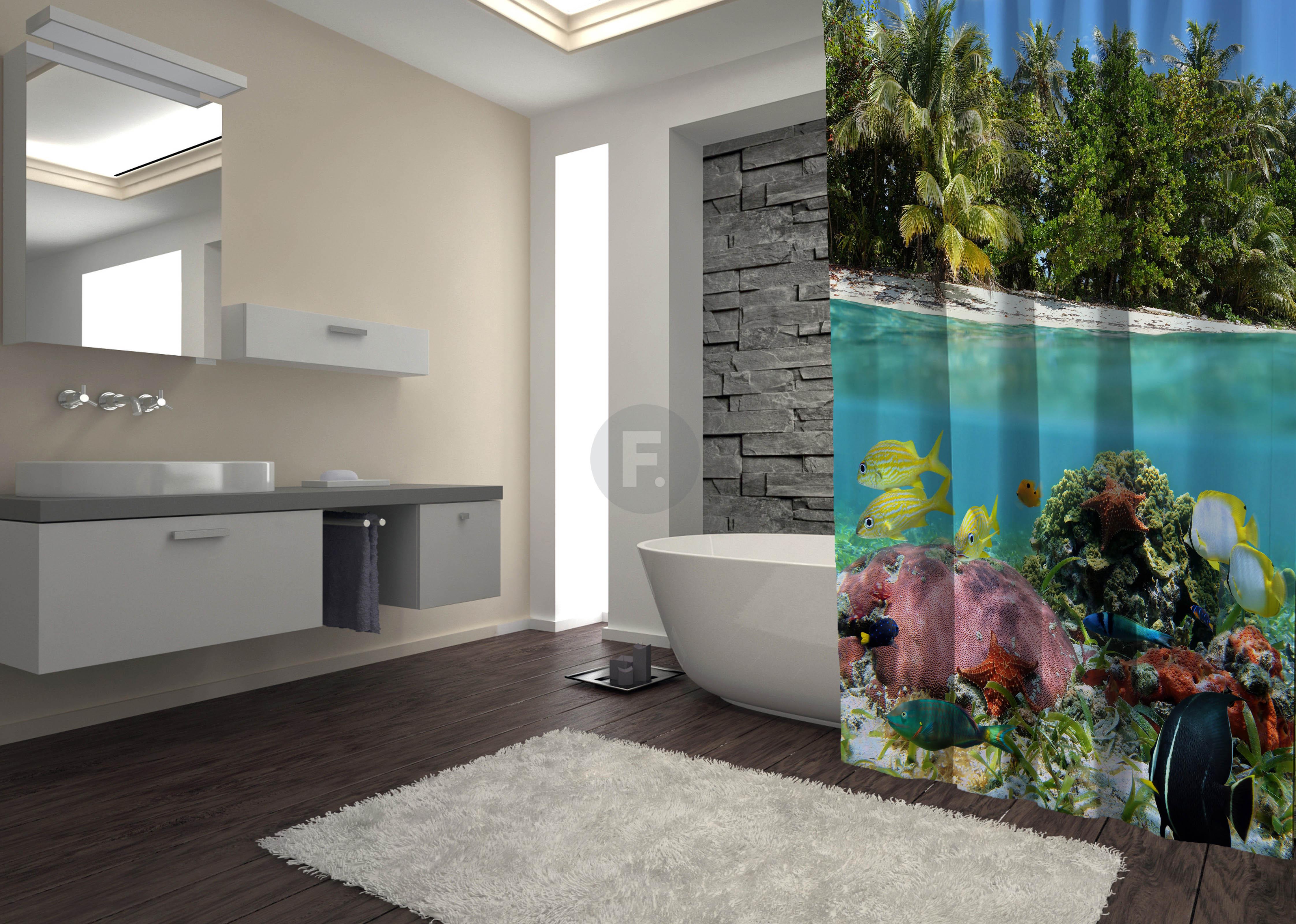 Шторы и карнизы для ванной Fototende Шторы для ванной Deon  (145х180)