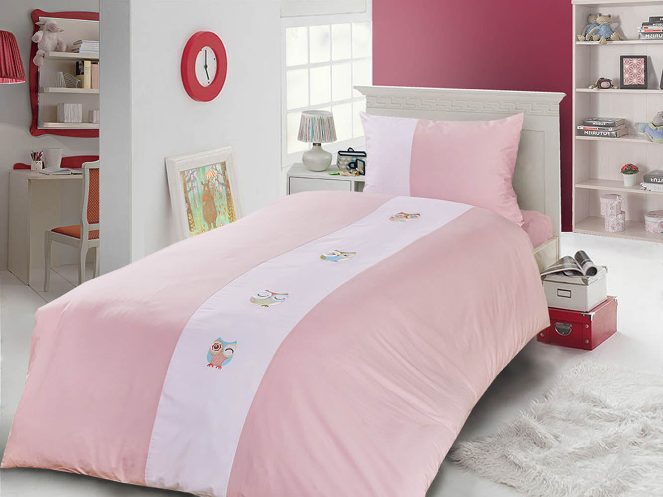 Детское Постельное белье Primavelle Детское Постельное белье Vetta Цвет: Розовый+Белый (115х145 см) vetta 851 145