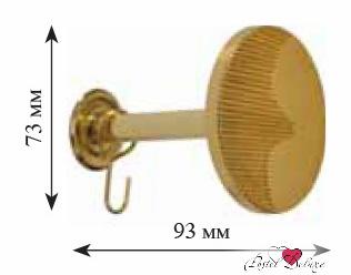Карнизы и аксессуары для штор ARCODORO Розетка Месяц Цвет: Золото саморезы универсальные standers 4х30 мм цвет жёлтый 150 шт