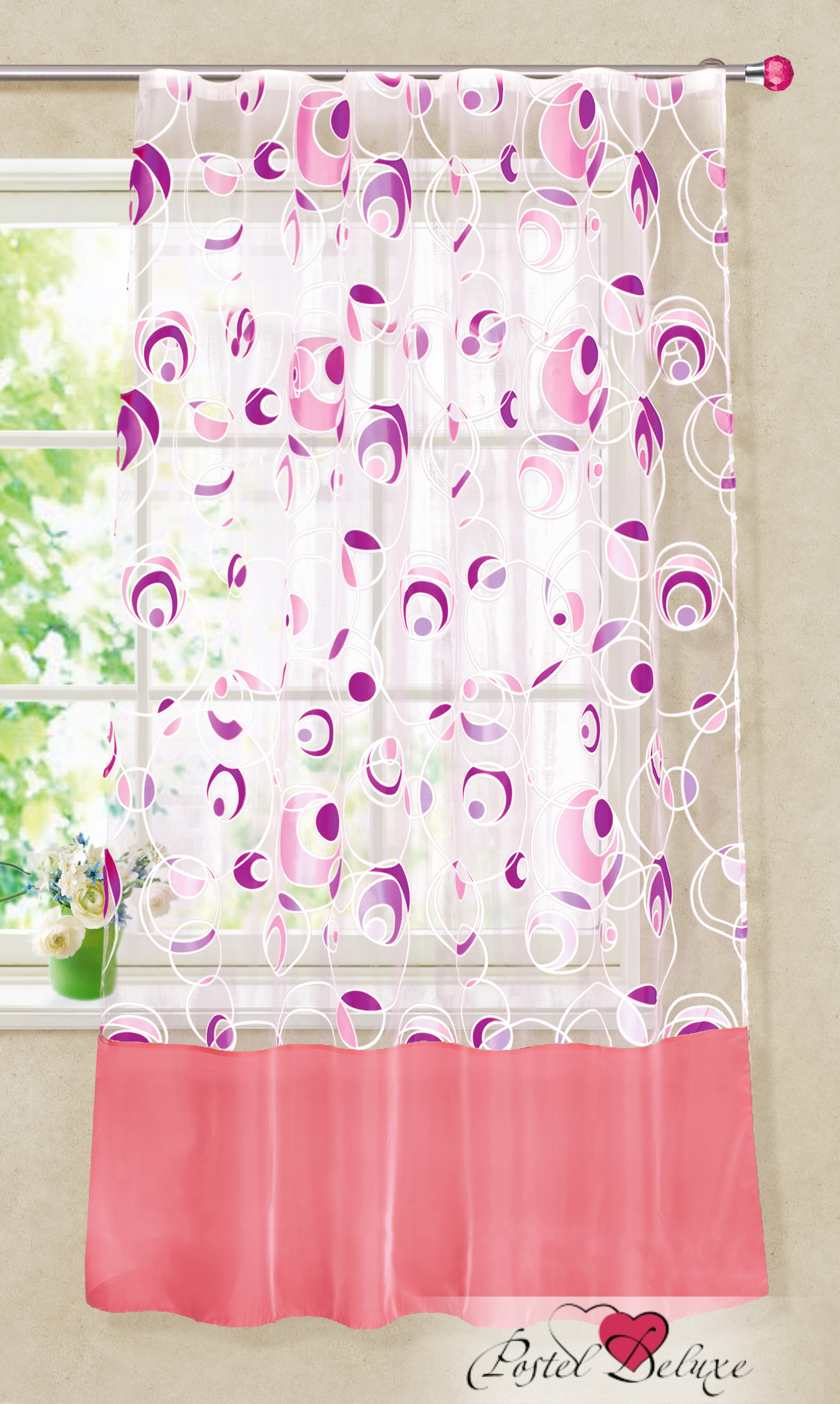 Шторы Garden Классические шторы Леденец Цвет: Темно-Розовый garden garden классические шторы полевые вьюнки цвет розовый