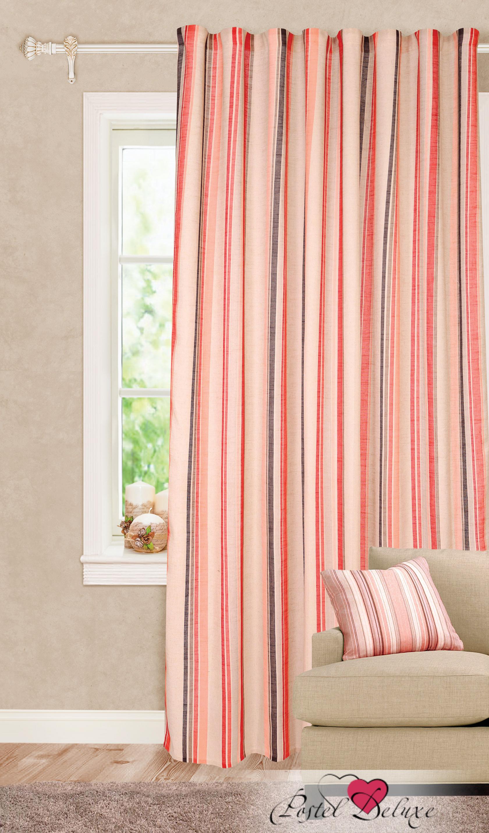 Шторы Garden Классические шторы Яркие Полосы Цвет: Красный