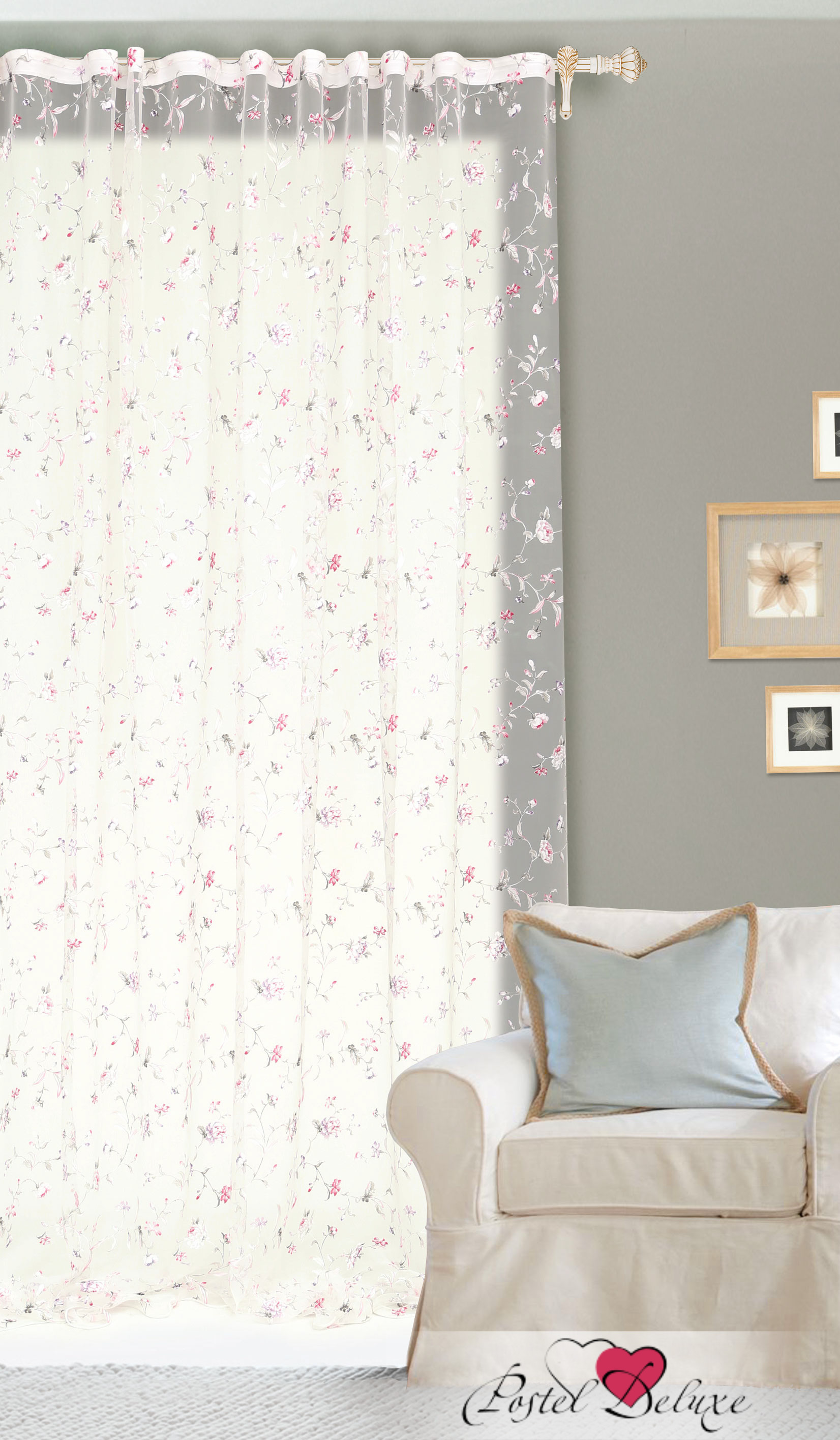 Шторы Garden Классические шторы Полевые Вьюнки Цвет: Розовый garden garden классические шторы леденец цвет темно розовый