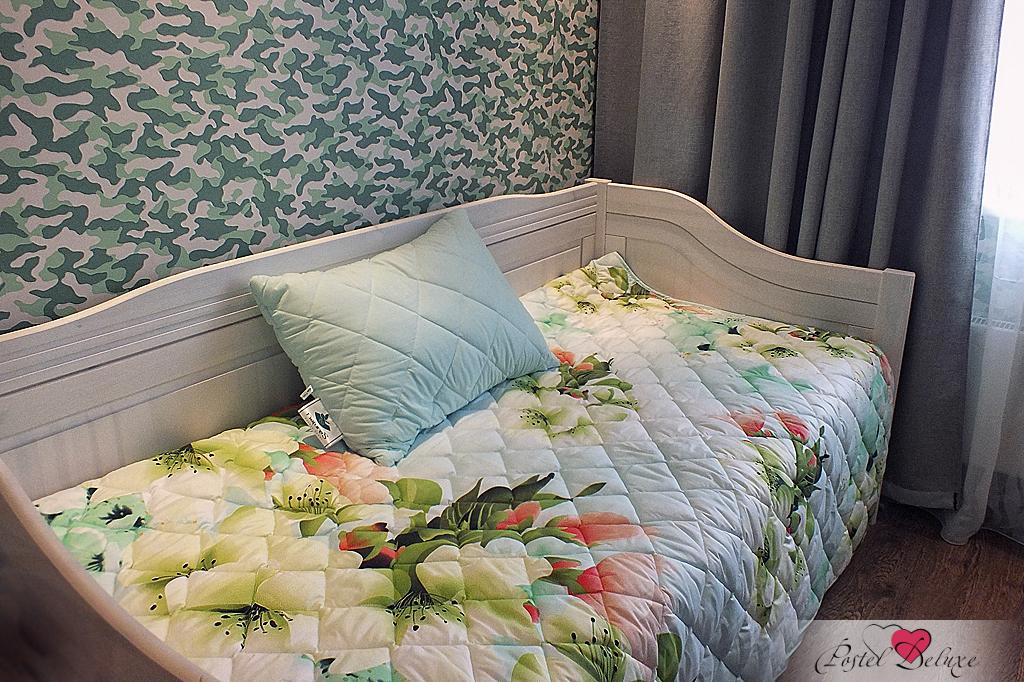 {} Nature'S Комплект из одеяла-покрывала и стеганой подушки Яркие цветы (160х210 см) покрывало natures яркие цветы с подушкой 160х210 см