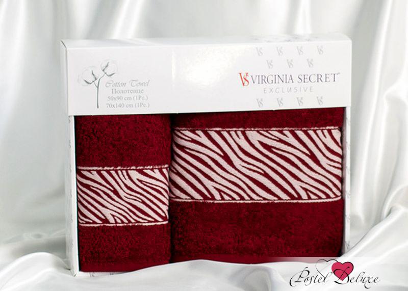 Полотенце Virginia SecretПолотенца<br>Производитель: Virginia Secret<br>Страна производства: Турция<br>Материал: Велюр (100% Хлопок)<br>Размер: 50х90 см, 70х140 см<br>Упаковка: Подарочная упаковка<br>Особенности: Подарочный набор<br><br>Тип: полотенце<br>Размерность комплекта: None<br>Материал: Велюр<br>Размер наволочки: None<br>Подарочная упаковка: есть<br>Для детей: нет<br>Ткань: Велюр<br>Цвет: Бордовый