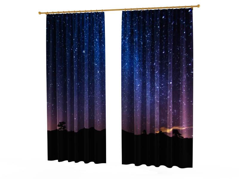 Шторы StickButik Фотошторы Ночное Звездное Небо картленд барбара звездное небо гонконга