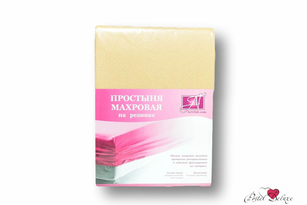 Простыни AlViTek Простыня на резинке Abegail Цвет: Бежевый (180х200 см)