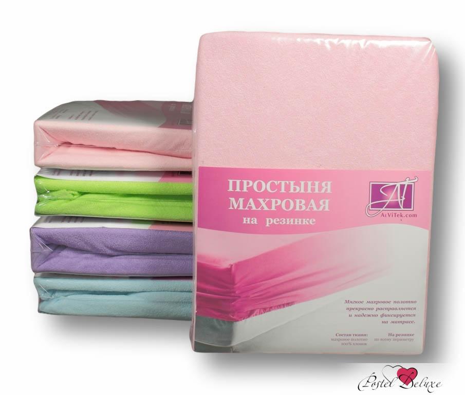 Простыни AlViTek Простыня на резинке Abegail Цвет: Розовый (200х200 см)