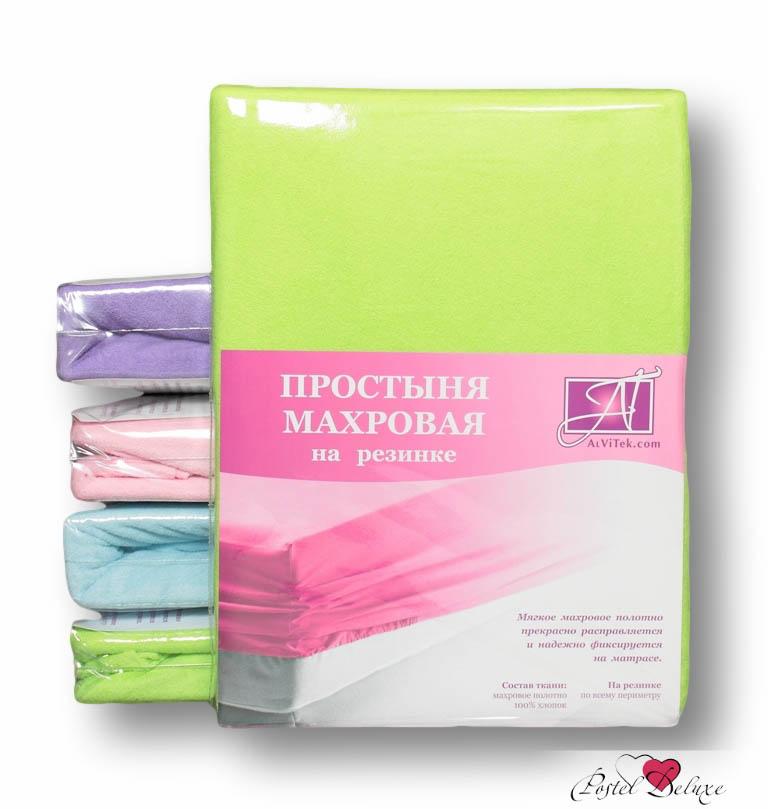 где купить  Простыни AlViTek Простыня на резинке Barrett Цвет: Салатовый (140х200 см)  по лучшей цене