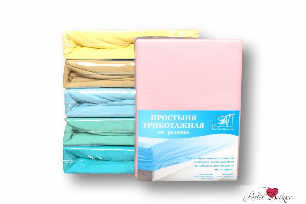 где купить Простыни AlViTek Простыня на резинке Barrett Цвет: Розовый (160х200 см) по лучшей цене