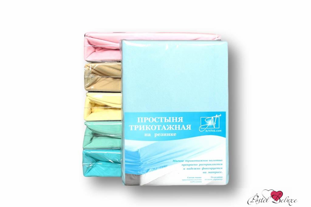 где купить  Простыни AlViTek Простыня на резинке Barrett Цвет: Голубой (180х200 см)  по лучшей цене